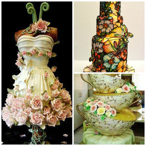 Cakes that look like pieces of art