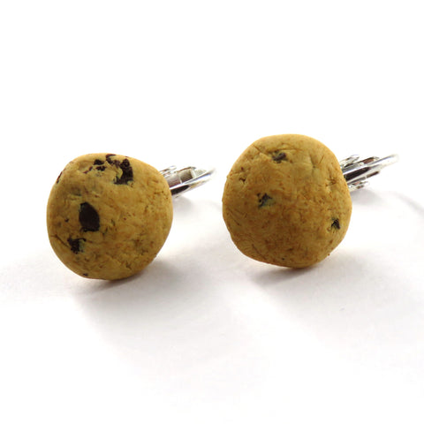 Chocolate Chip Cookie Clip On Earrings