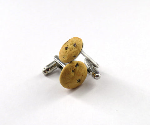 Choc Chip Cookie Cufflinks