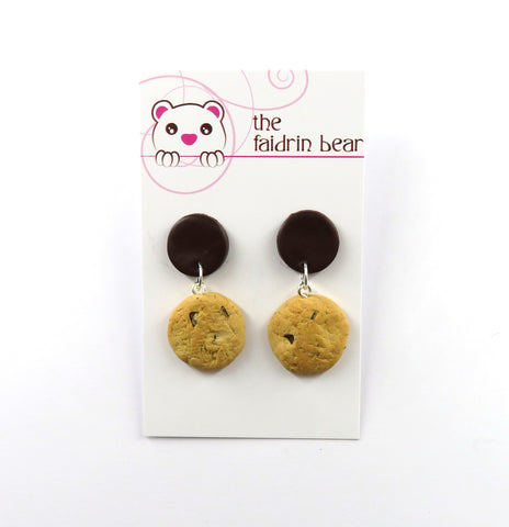 Chocolate Chip Cookie Dangle Earrings