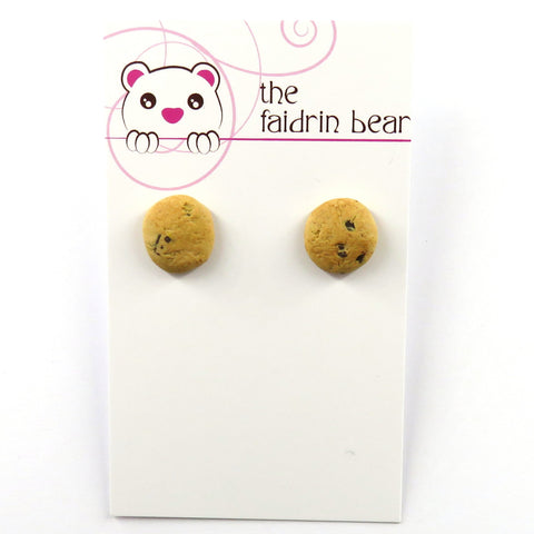 Choc Chip Cookie stud earrings