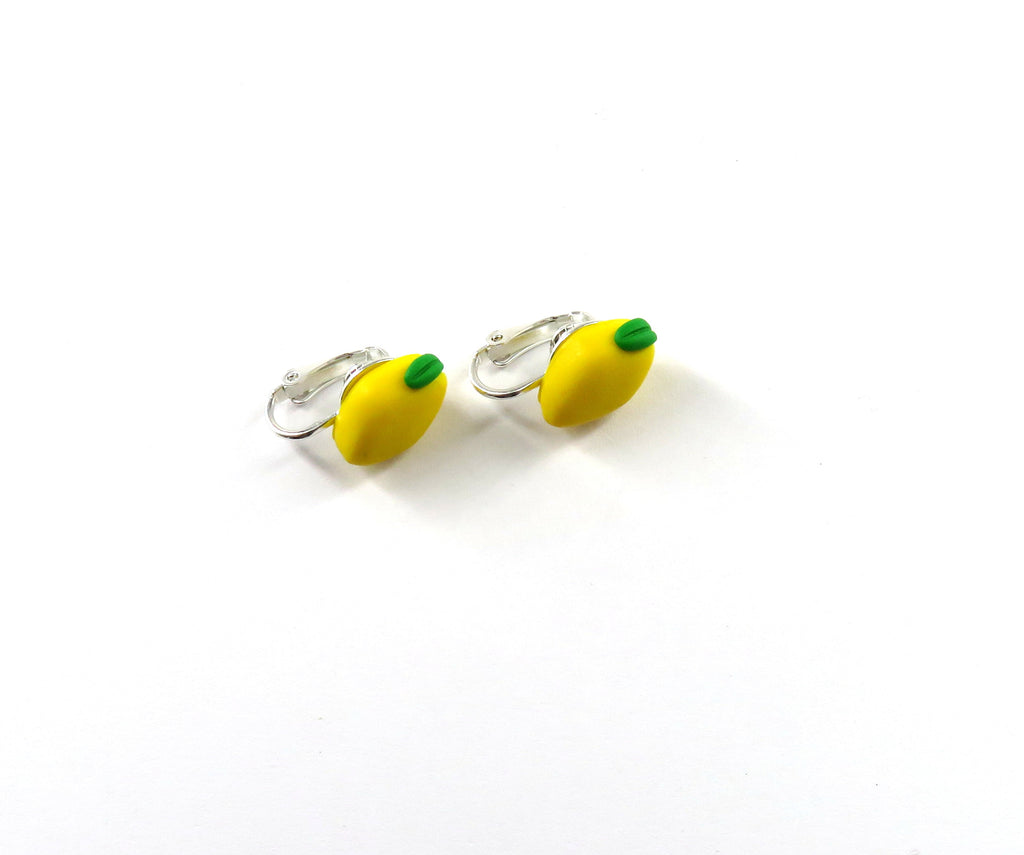 Lemon Clip On Earrings