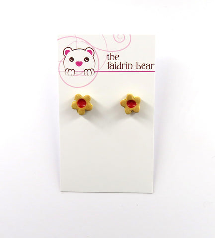 Linzer Cookie Stud Earrings