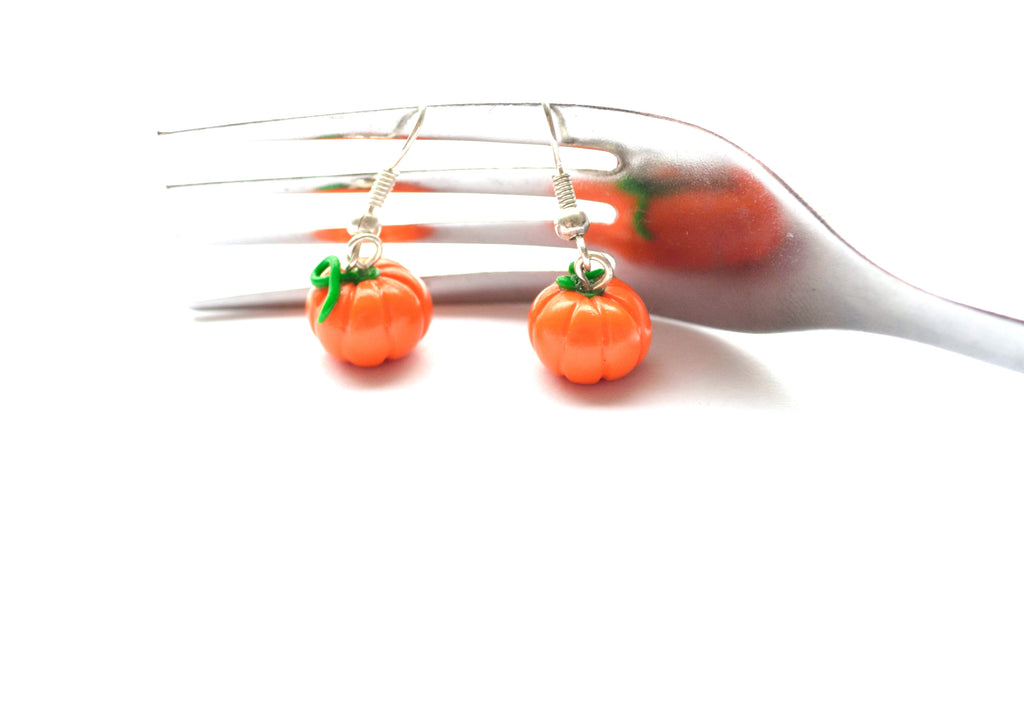 Little Pumpkin Drop Earrings, Halloween Dangling Earrings