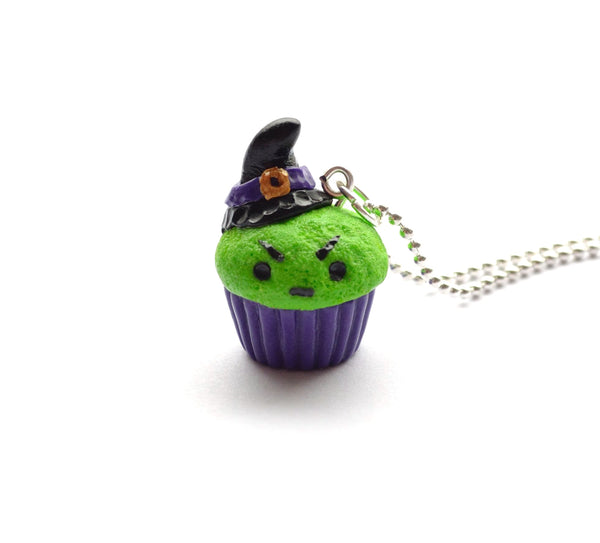 Wicked Witch Cupcake, Halloween Foodie Necklace