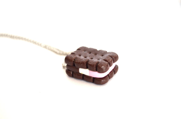 Neopolitan Ice Cream Sandwich Necklace