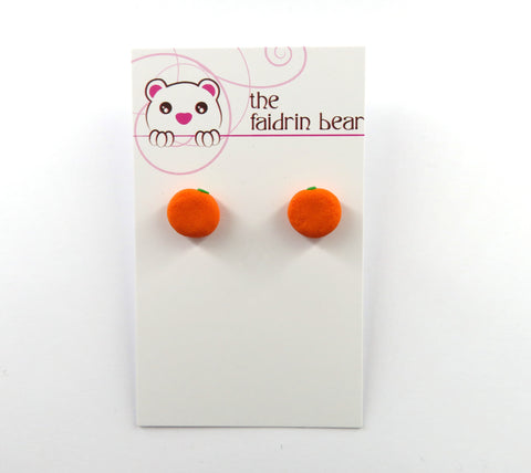 Orange Stud Earrings