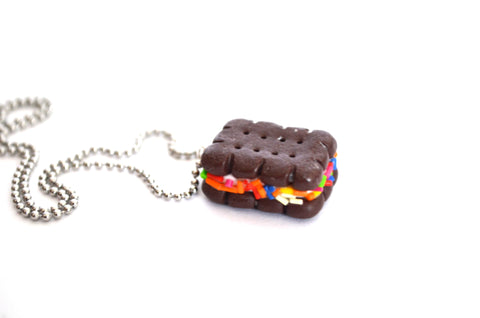 Sprinkles Ice Cream Sandwich Necklace