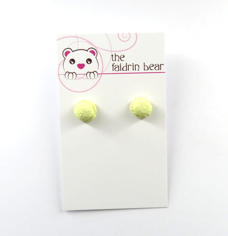 Vanilla Ice Cream Scoop Stud Earrings