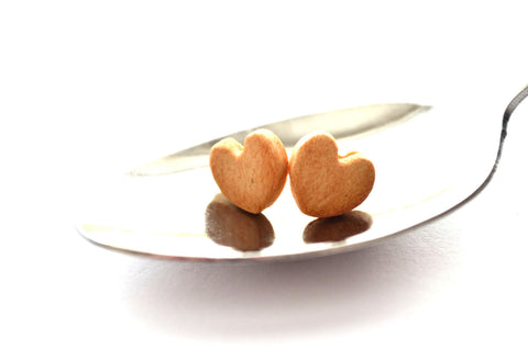 Heart Cookie stud earrings