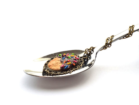 Biscuit with Chocolate Icing and Sprinkles Pendant