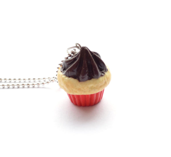Red-Vanilla Cupcake Necklace
