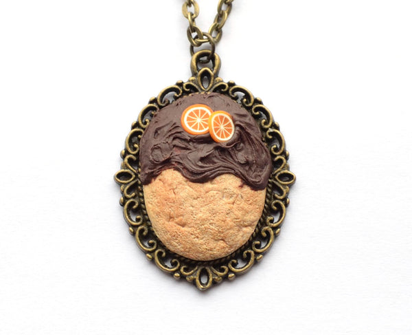 Biscuit with Chocolate and Orange Pendant