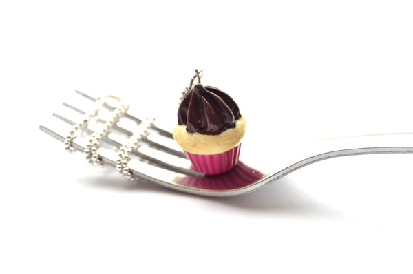 Pink-Vanilla Cupcake Necklace