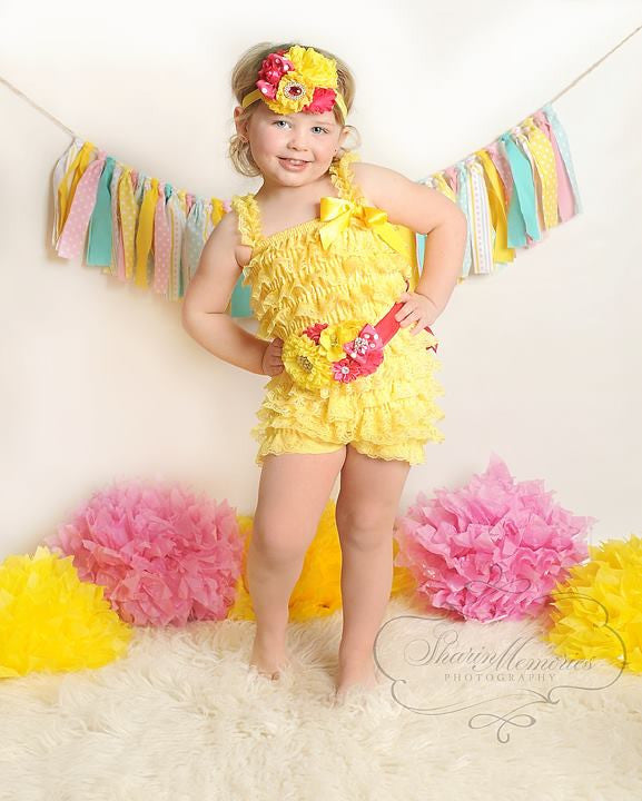 Strawberry Lemonade Petti Romper Set
