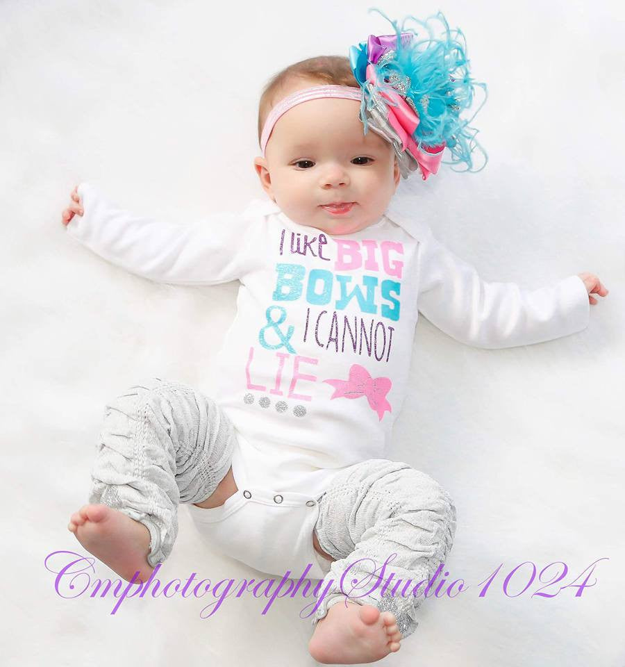 I Like Big Bows and I Can Not Lie Onesie Set