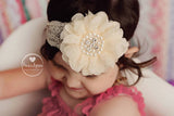 Ivory Lace Flower Headband