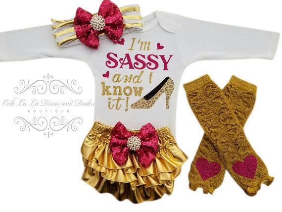 I'm Sassy and I Know It Bodysuit/T-Shirt Set