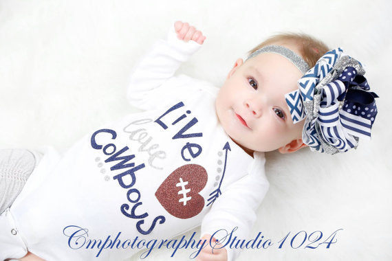 Dallas Cowboys Onesie or T-Shirt Set