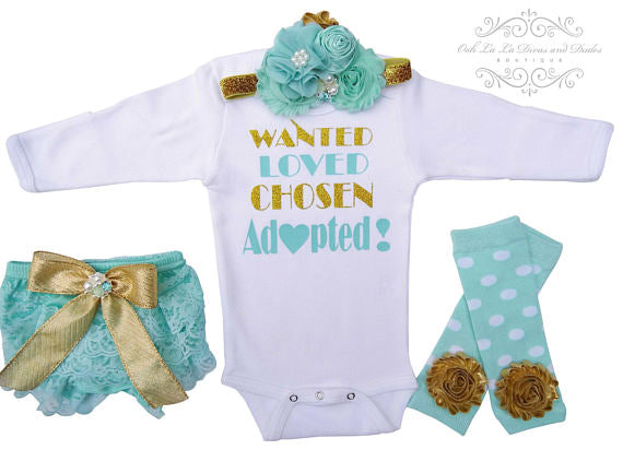 Wanted Loved Chosen Adopted Onesie or T-Shirt Set