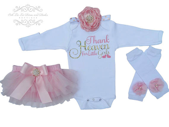 Thank Heaven For Little Girls Onesie or T-Shirt Set