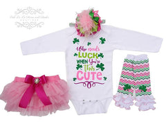 """Who Needs Luck When You're This Cute"" Onesie or T-Shirt Set"