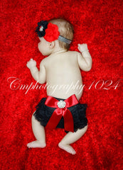 Black & Red Bloomer Set