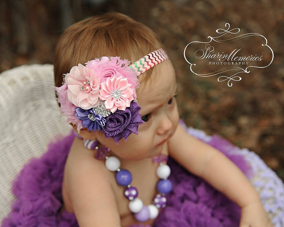 Birthday Shabby Chic Headband
