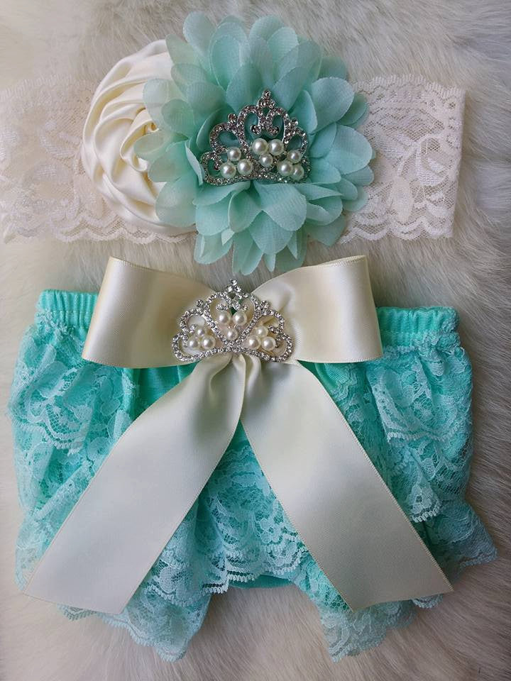 Aqua Bloomers/Baby Bloomers/Ruffle Bloomers/Toddler Bloomers/Newborn Bloomers/Birthday Bloomer/Infant Bloomers/Lace Bloomers/Cake Smash