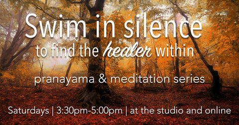 Swim in silence to find the healer within - October 24th - The Stillness