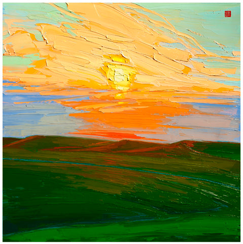 Sundown in the Hills ooc Allan Chow SOLD