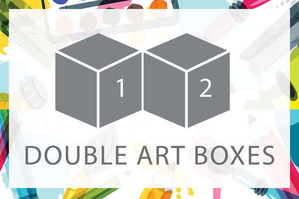 Double Art Boxes - Landscape & Cherry - Home Art Projects for Kids