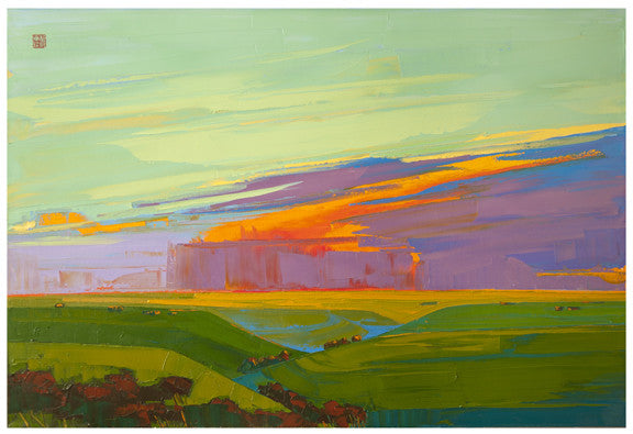 Giclee on canvas - Breakthrough - 24x36in - Modern Landscape