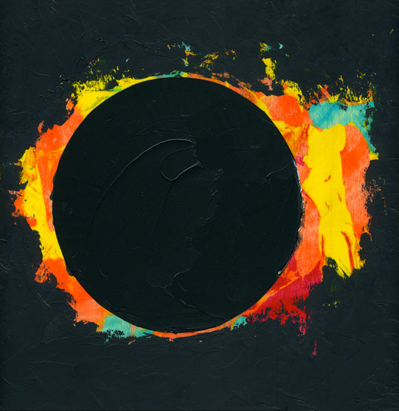 Giclee on canvas - Courage - Solar Eclipse - 24x24in - Modern Landscape