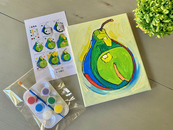 Double Art Boxes - Landscape & Pear - Home Art Projects for All