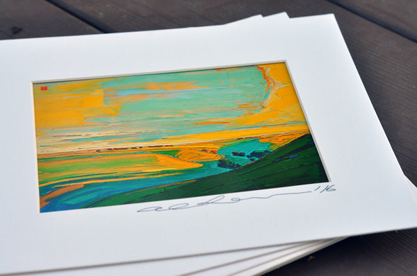 Giclee on paper - Majestic Hills - 5in x 7in - in white mat