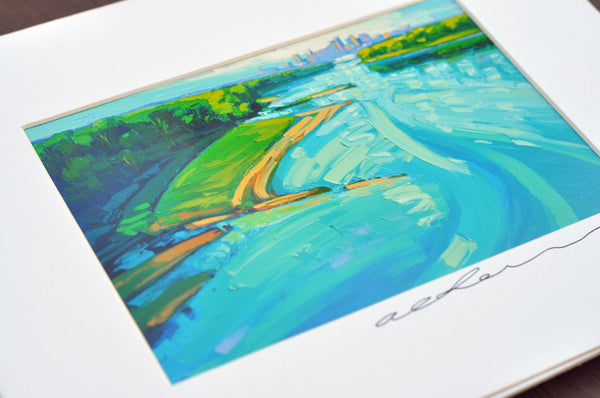 Giclee on paper - Morning Missouri - 5in x 7in - in white mat