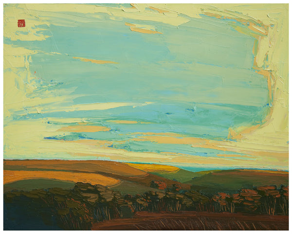 Giclee on paper - Majestic Flint Hills - 5in x 7in - in white mat