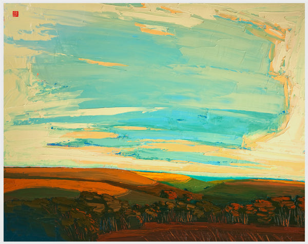 Giclee on canvas - Majestic Flint Hills - 30x40in - Prairie Landscape