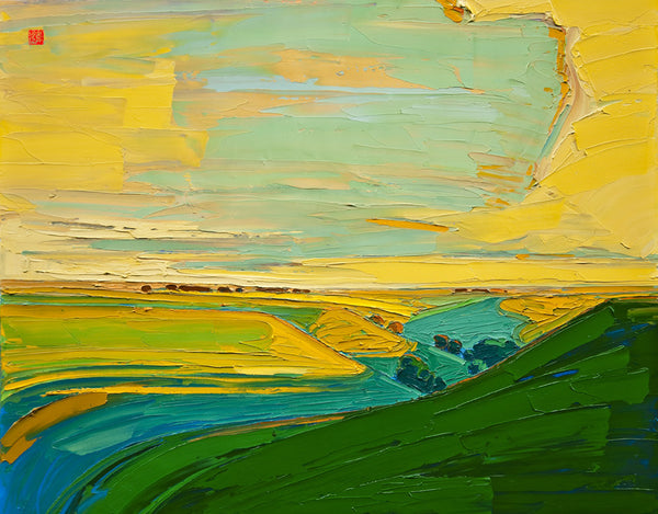 Giclee on paper - Majestic Hills- 24x30 - Modern Landscape
