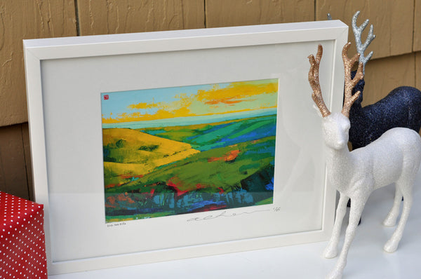 Over the Hills - Framed Paper Giclee