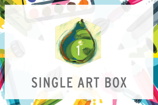 Single Art Box - Pear - Home Art Projects for All