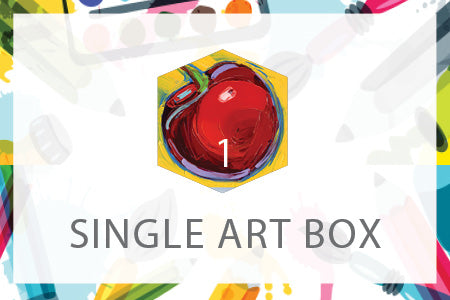 Single Art Box - Cherry - Home Art Projects for Kids
