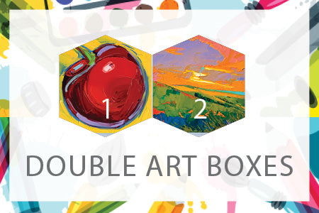 Double Art Boxes - Landscape & Cherry - Home Art Projects for All