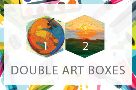 Double Art Boxes - Landscape & Clementine - Home Art Projects for All