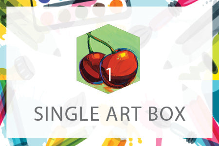 Single Art Box - Cherries - Home Art Projects for All