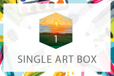 Single Art Box - May Landscape - Home Art Projects for All