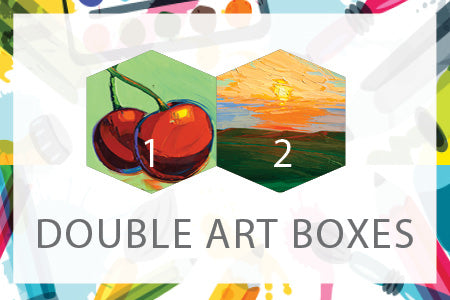 Double Art Boxes - Landscape & Cherries - Home Art Projects for Kids