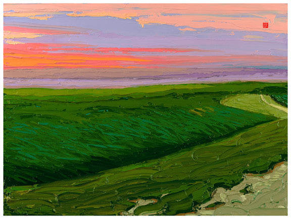 Giclee on paper - Songs of the Prairie - 24x30 - Modern Landscape