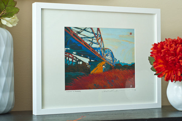 Sundown at Broadway - Framed Paper Giclee